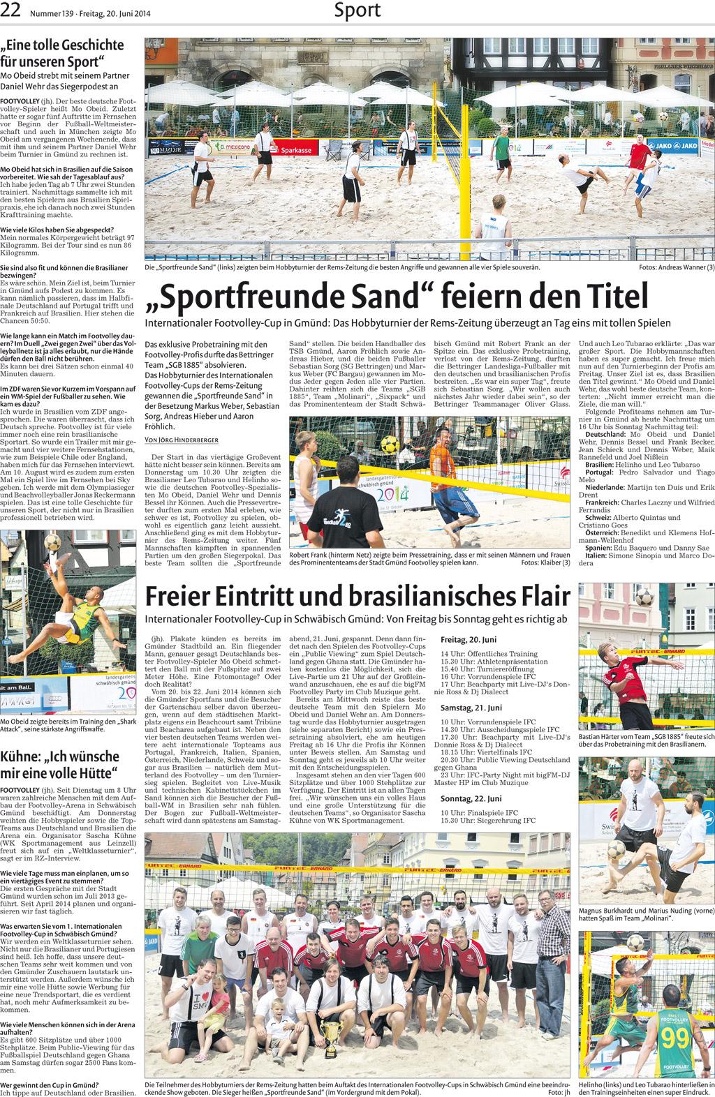 Bilder – Jens Schamberger, Schwäbisch Gmünd – Footvolley Germany