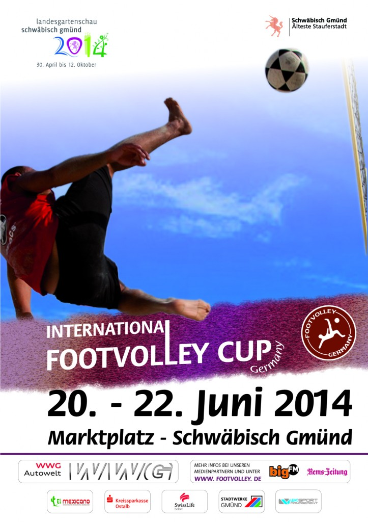 Flyer International Footvolley Cup 2014 in Schwäbisch Gmünd
