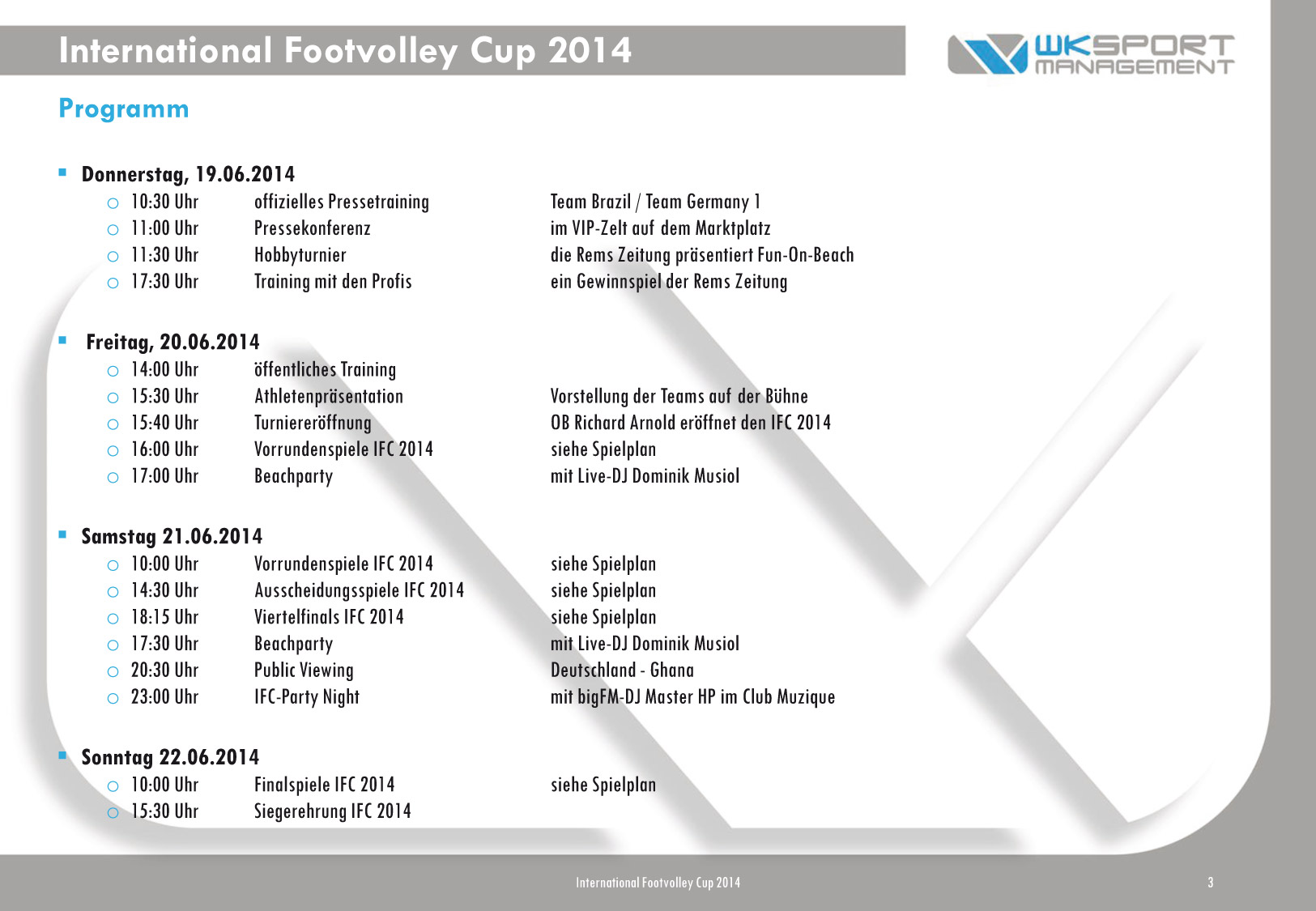International Footvolley Cup 2014 – IFC – Schwäbisch Gmünd
