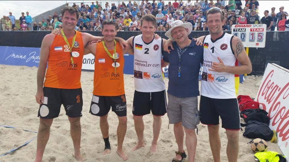 Footvolley Show-Match beim White Sands Festival