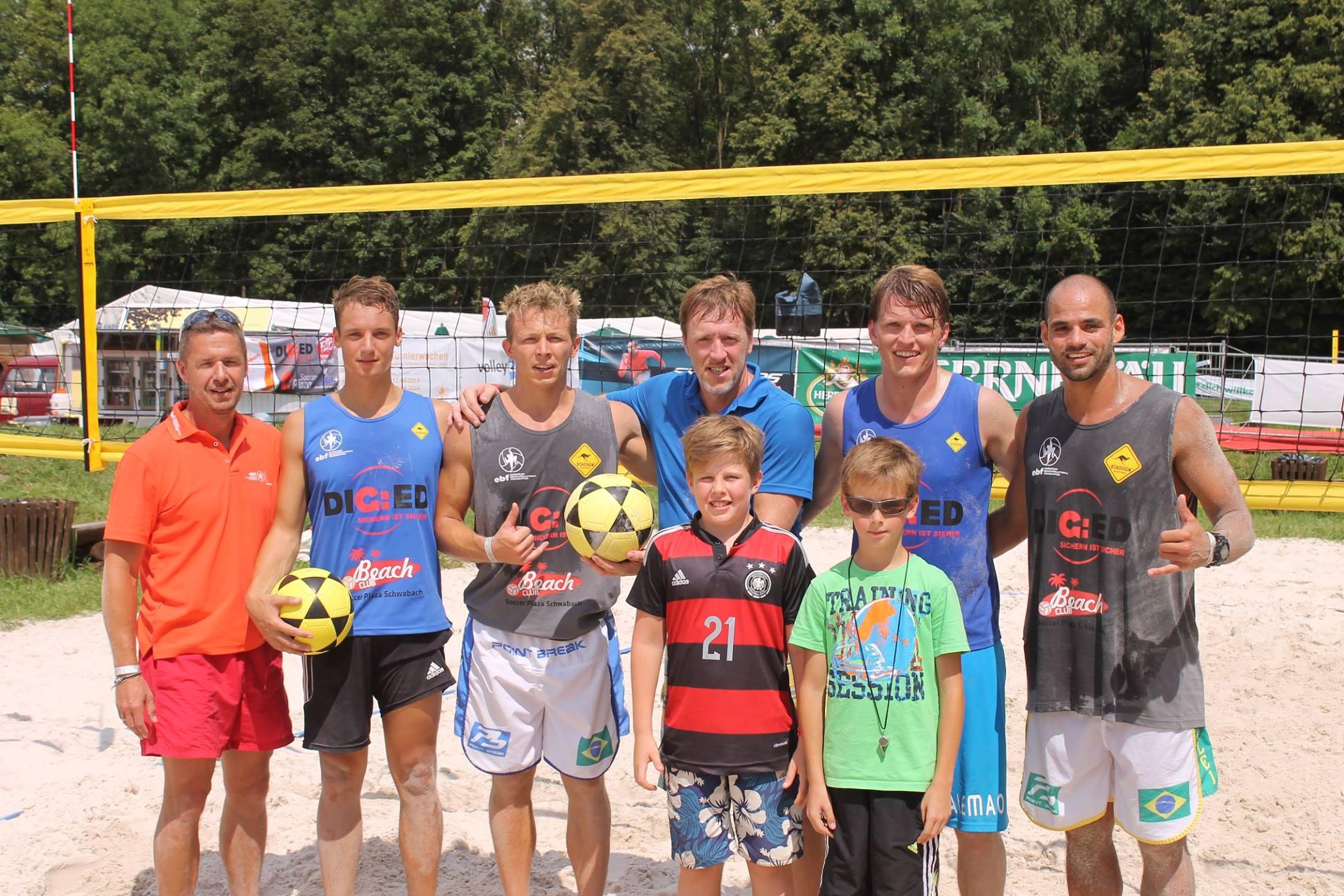 Footvolley-Showmatch in Ingolstadt