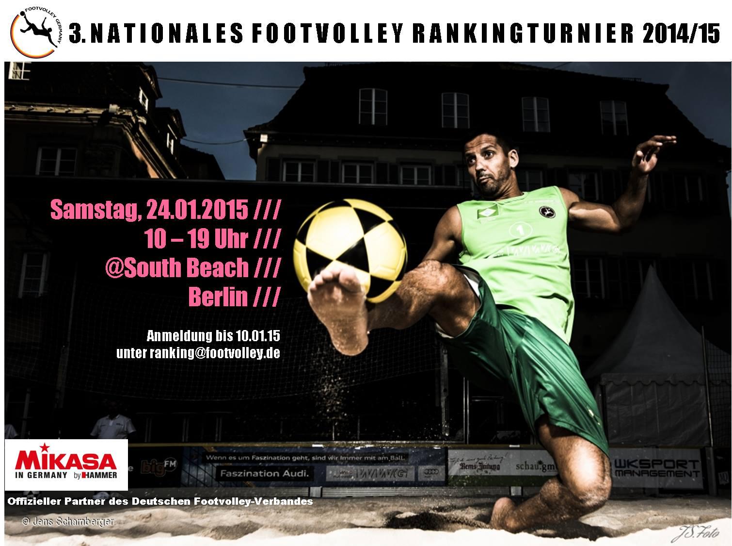 3. Footvolley-Ranking 2014/2015 – Berlin